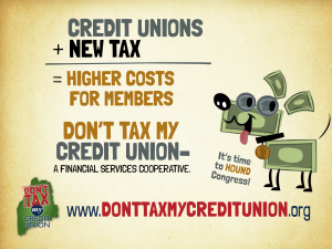 www.donttaxmycreditunion.org has great info on the credit union difference.